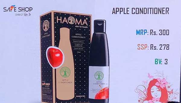 Apple conditioner, Safe shop products