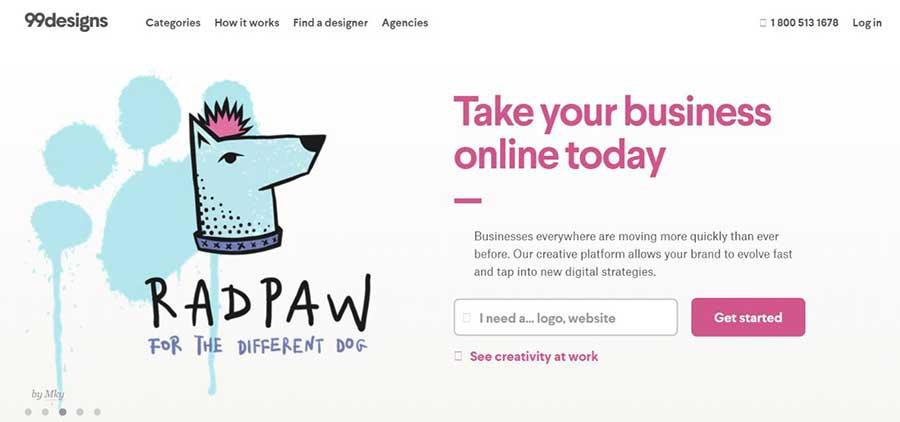 99designs-freelance website